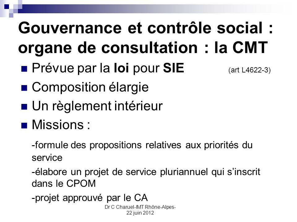 Gouvernance et contrôle social : organe de consultation : la CMT
