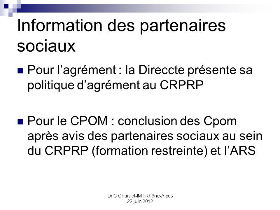 Information des partenaires sociaux