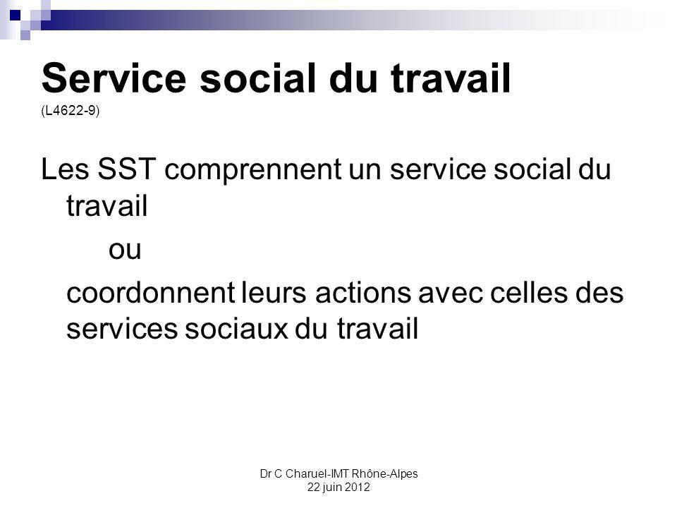 Service social du travail (L4622-9)