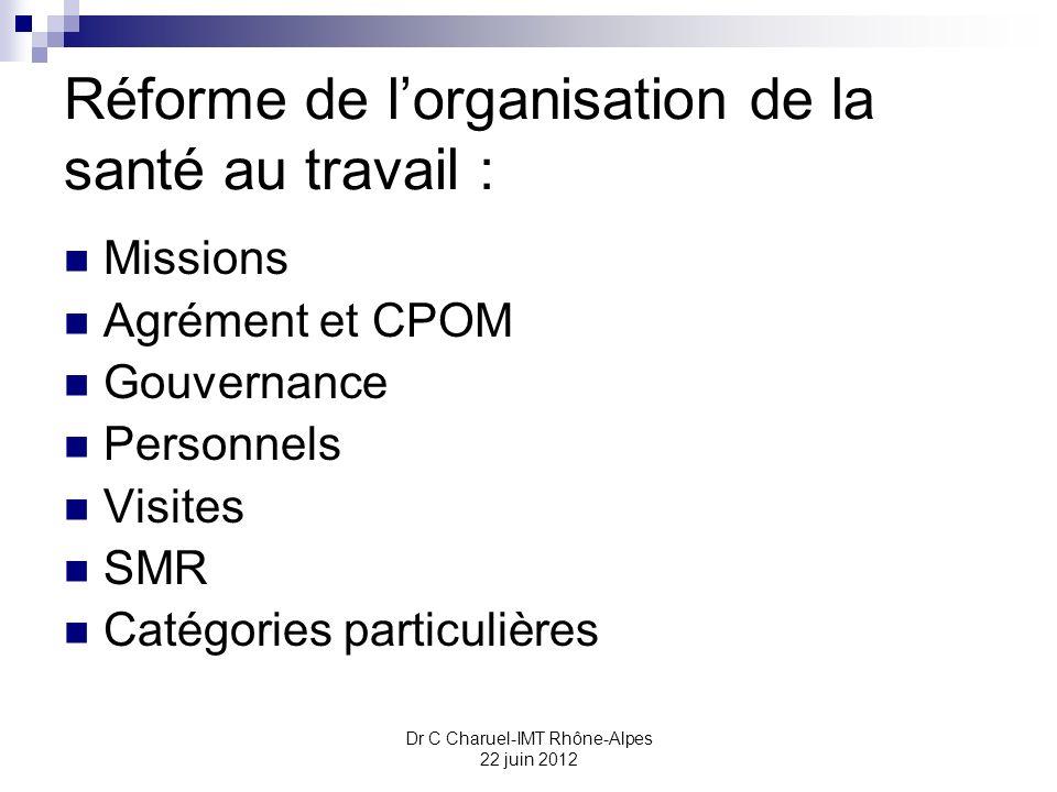 Réforme de l'organisation de la santé au travail :