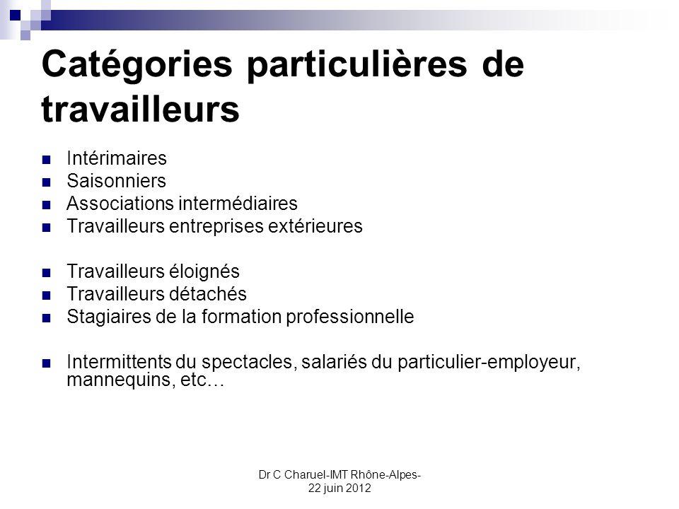 Catégories particulières de travailleurs