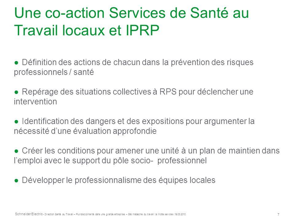 Une co-action Services de Santé au Travail locaux et IPRP