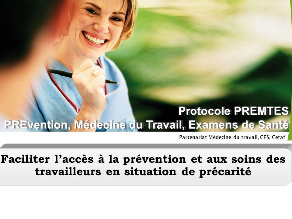 Partenariat Médecine du travail, CES, Cetaf