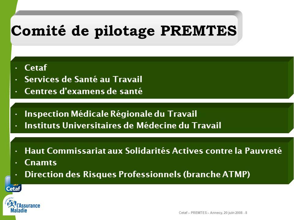Comité de pilotage PREMTES