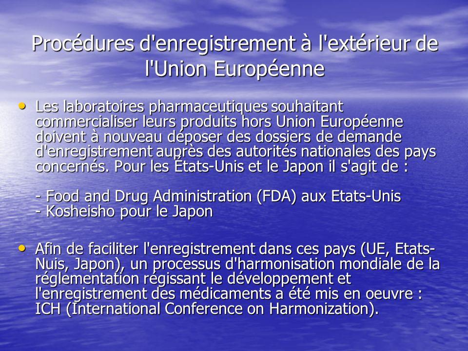 Procédures d enregistrement à l extérieur de l Union Européenne