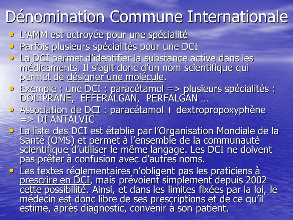 Dénomination Commune Internationale