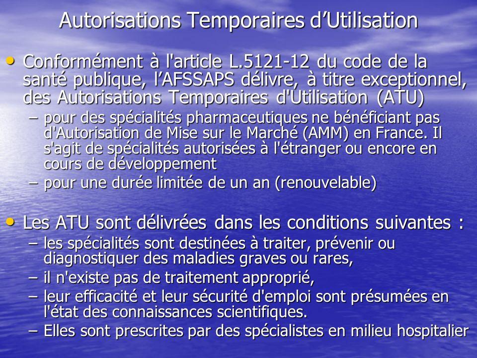 Autorisations Temporaires d'Utilisation