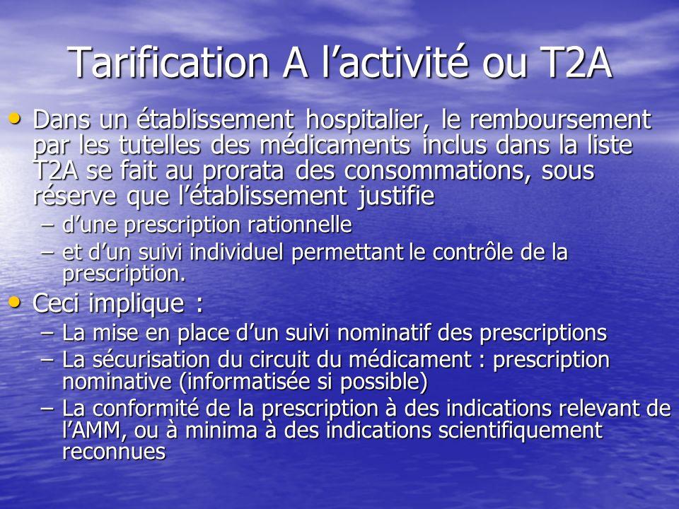 Tarification A l'activité ou T2A