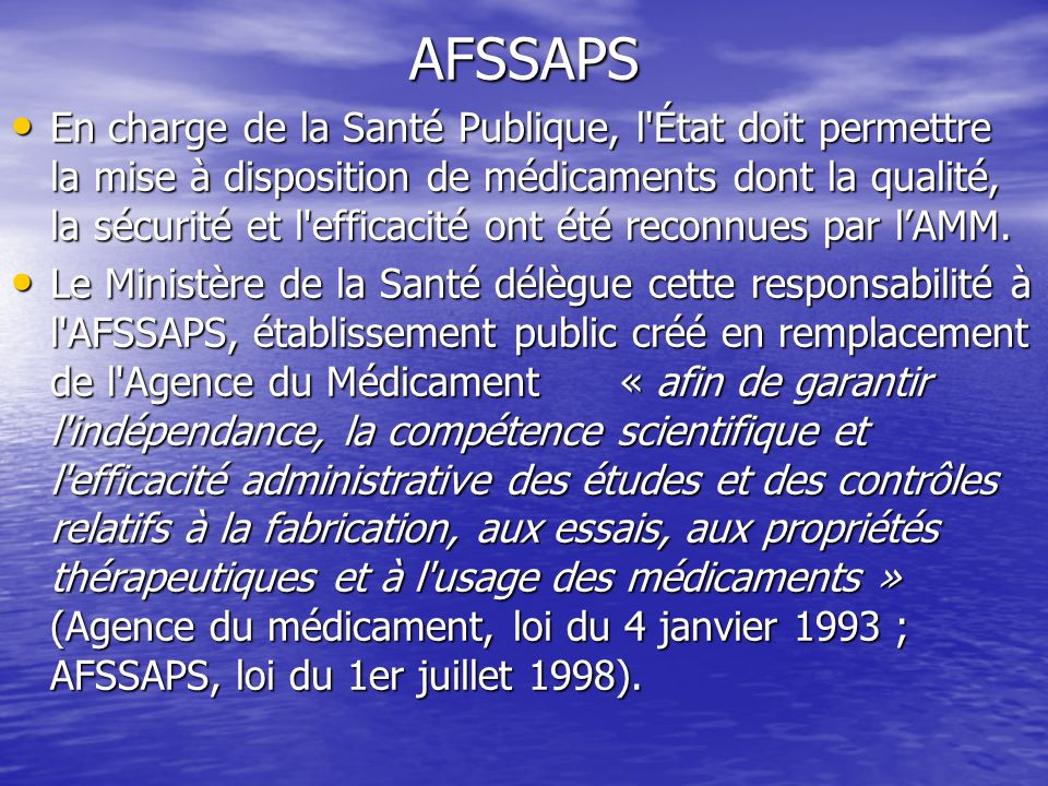 AFSSAPS