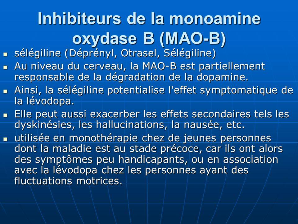 Inhibiteurs de la monoamine oxydase B (MAO-B)