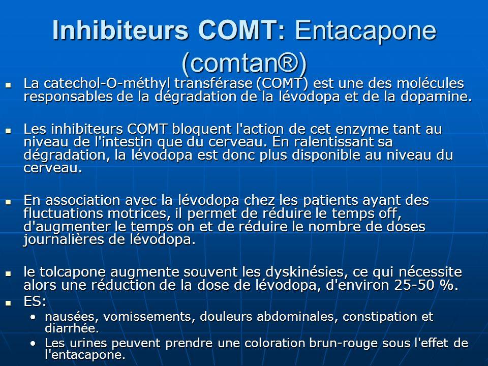 Inhibiteurs COMT: Entacapone (comtan®)