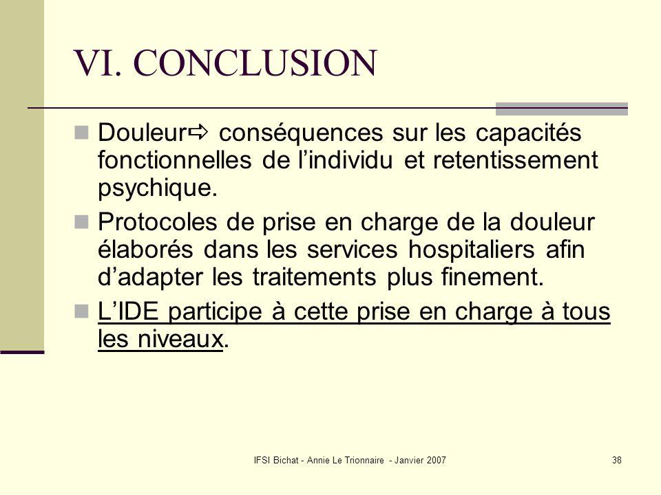 IFSI Bichat - Annie Le Trionnaire - Janvier 2007