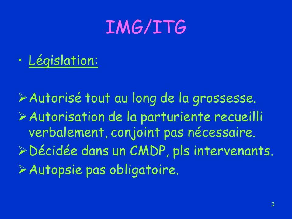 IMG/ITG Législation: Autorisé tout au long de la grossesse.