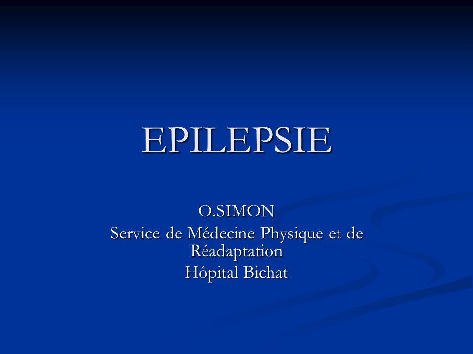 O.SIMON Service de Médecine Physique et de Réadaptation Hôpital Bichat
