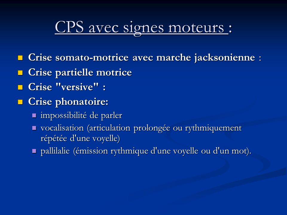 CPS avec signes moteurs :