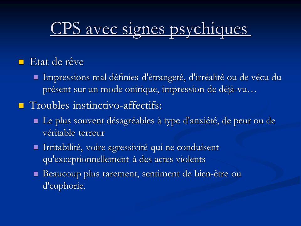 CPS avec signes psychiques