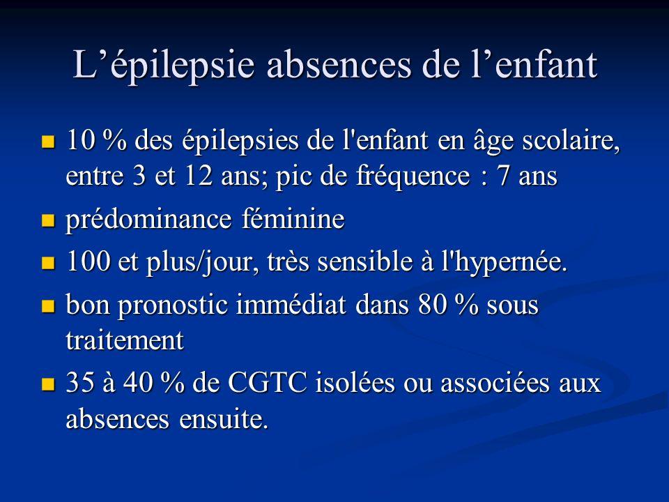 L'épilepsie absences de l'enfant