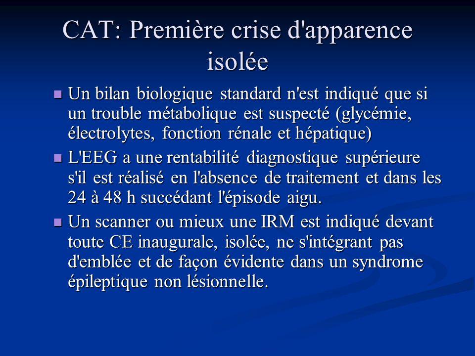 CAT: Première crise d apparence isolée