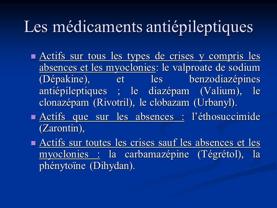 Les médicaments antiépileptiques