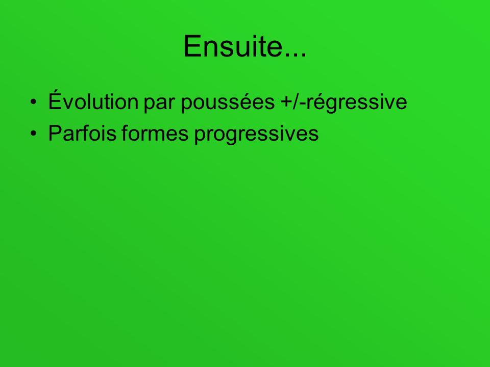 Ensuite... Évolution par poussées +/-régressive
