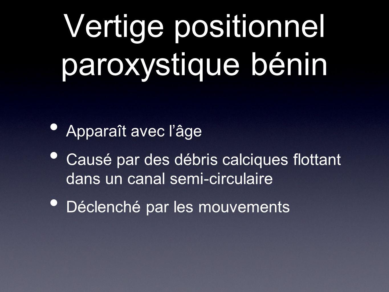Vertige positionnel paroxystique bénin