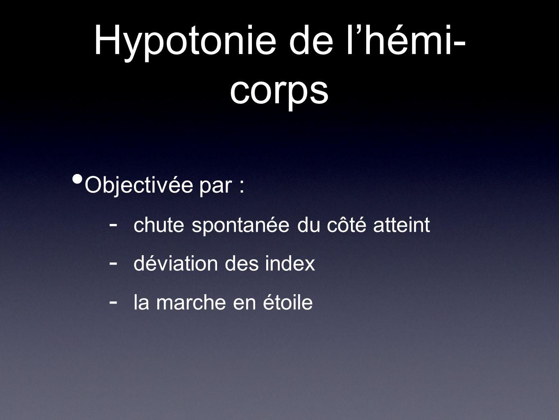 Hypotonie de l'hémi-corps