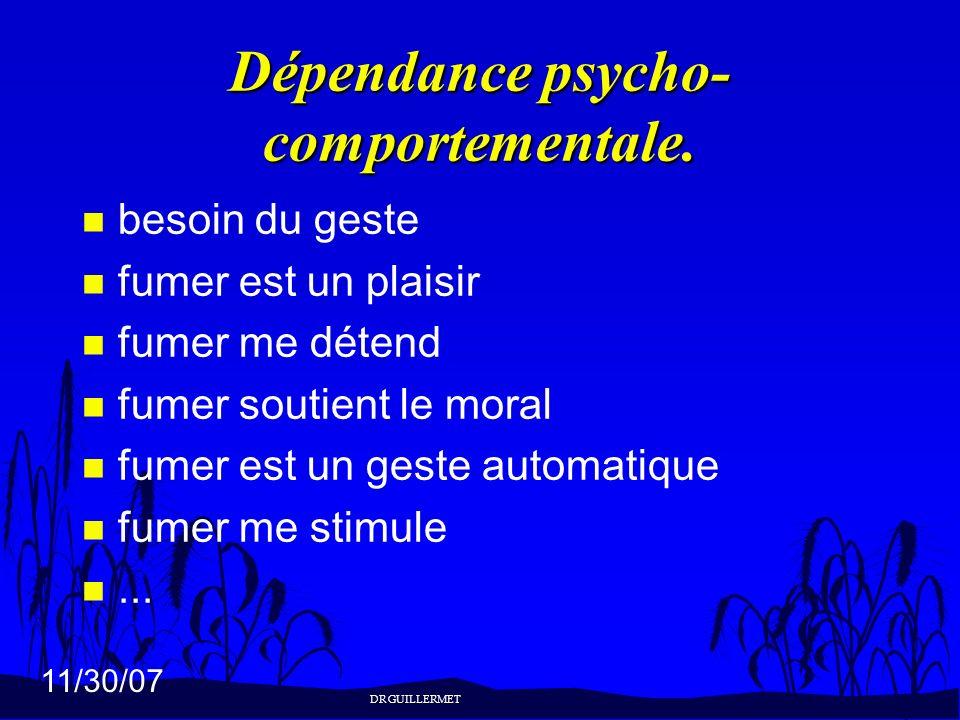 Dépendance psycho-comportementale.
