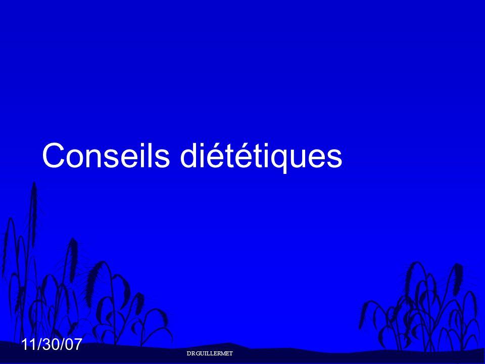 Conseils diététiques DR GUILLERMET 25
