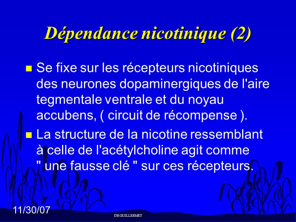 Dépendance nicotinique (2)