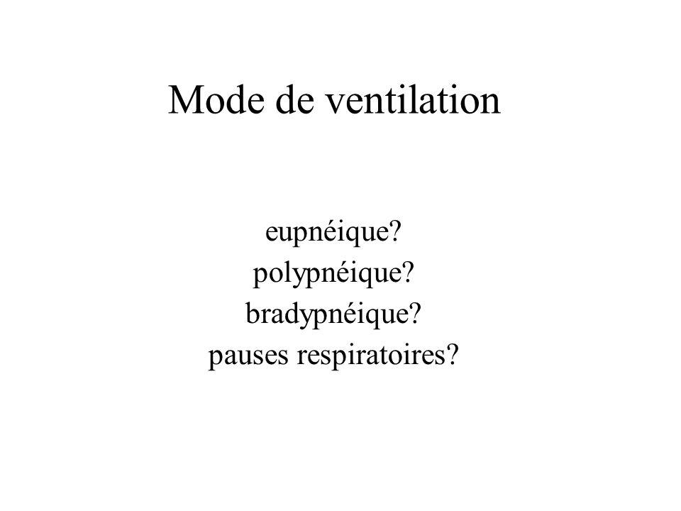 eupnéique polypnéique bradypnéique pauses respiratoires