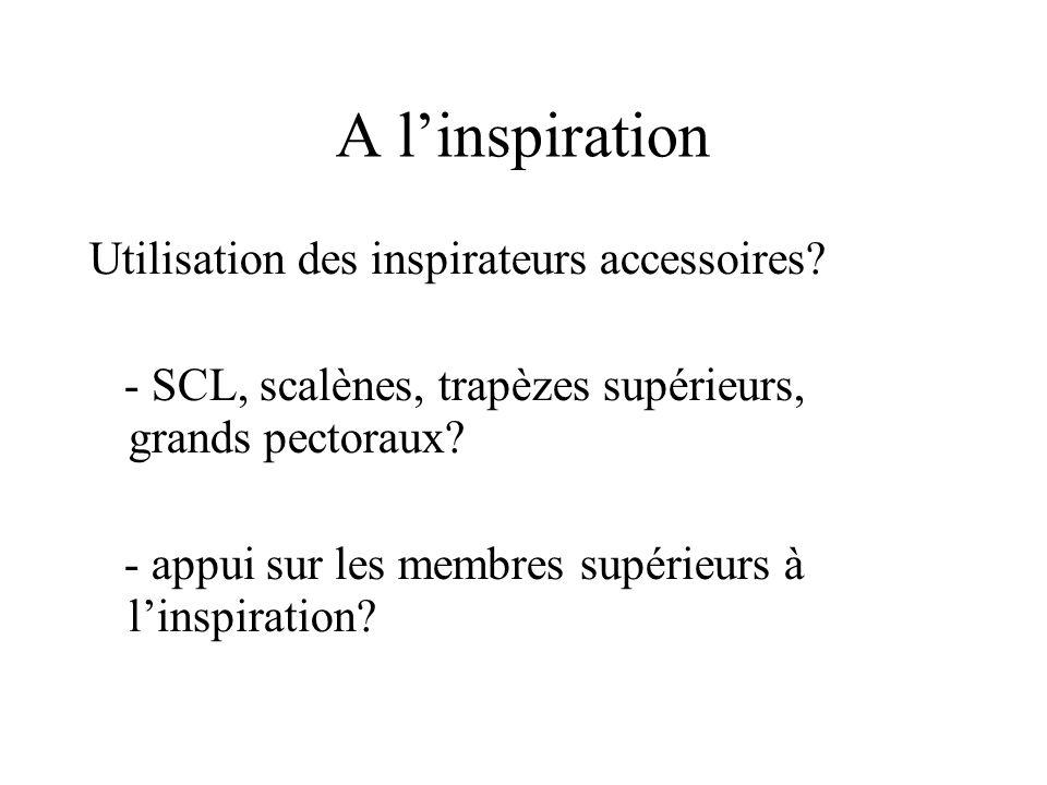 A l'inspiration Utilisation des inspirateurs accessoires