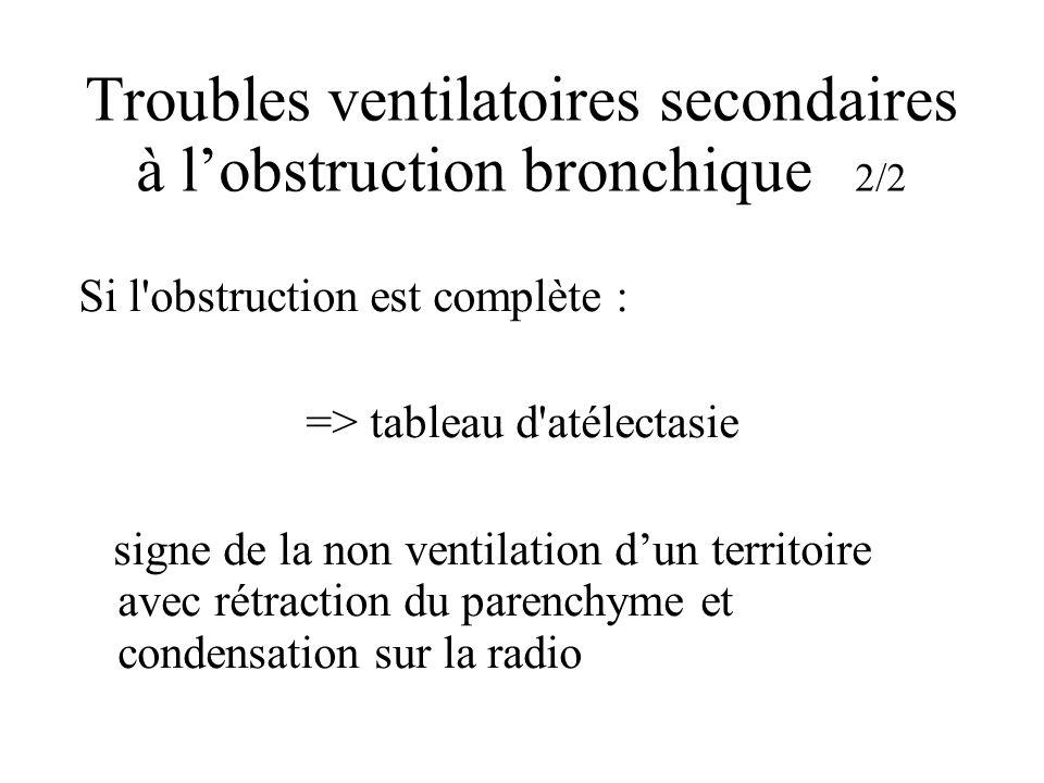Troubles ventilatoires secondaires à l'obstruction bronchique 2/2