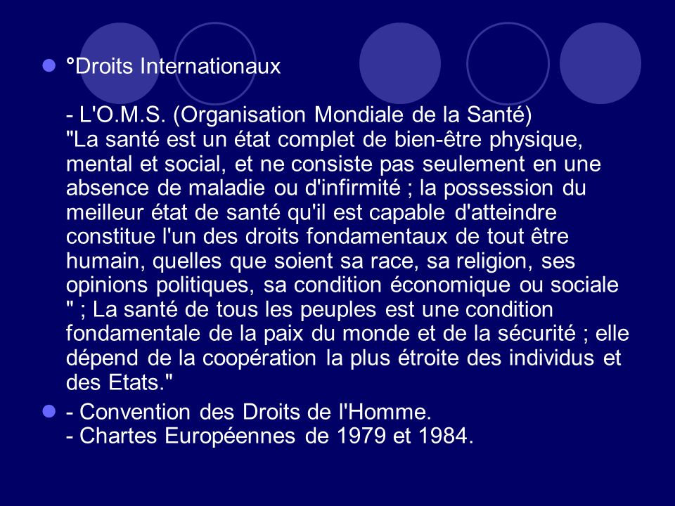 °Droits Internationaux - L O. M. S