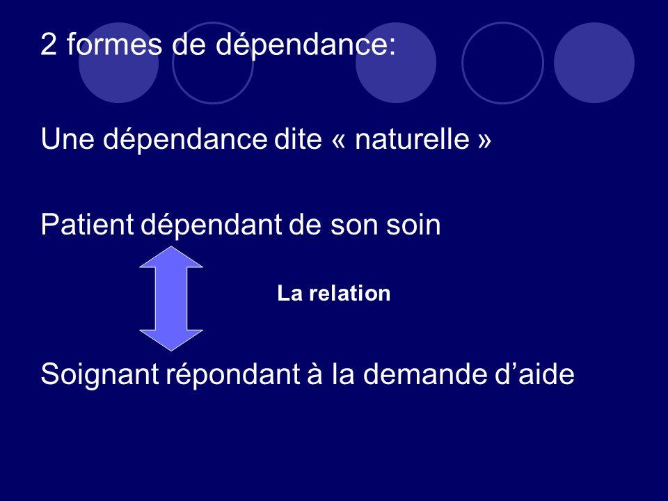 2 formes de dépendance: Une dépendance dite « naturelle »