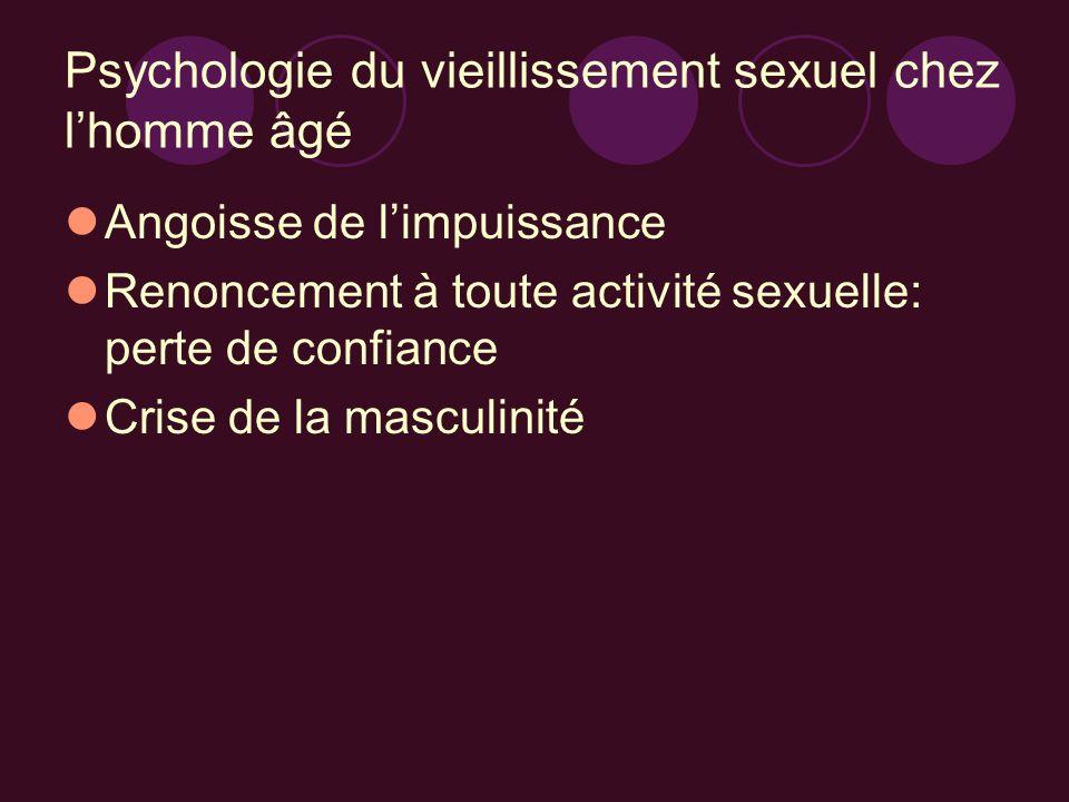 Psychologie du vieillissement sexuel chez l'homme âgé