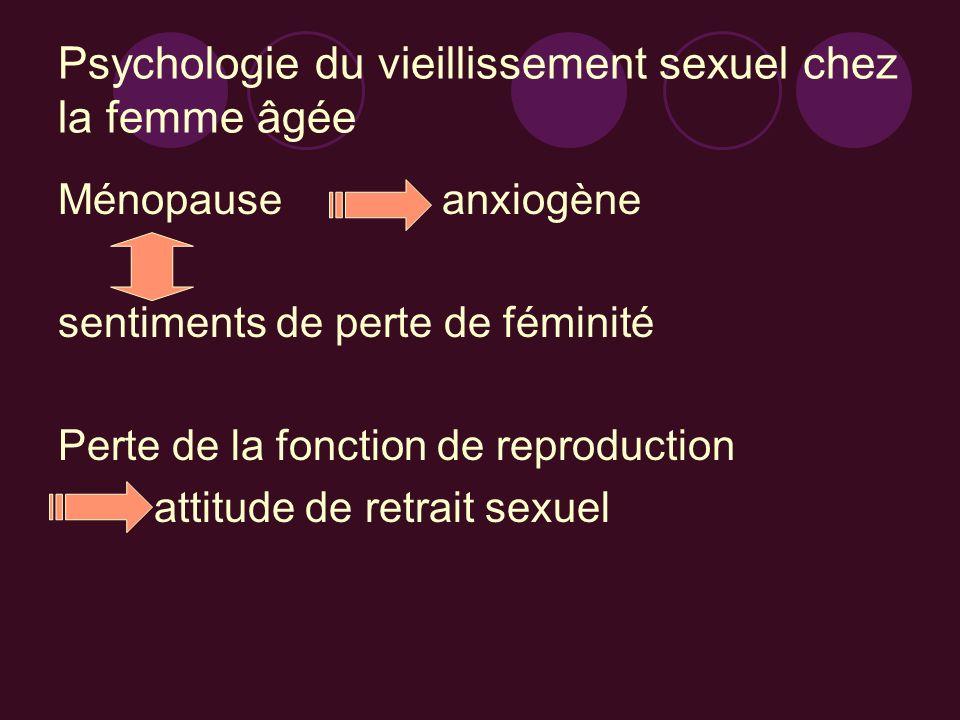 Psychologie du vieillissement sexuel chez la femme âgée