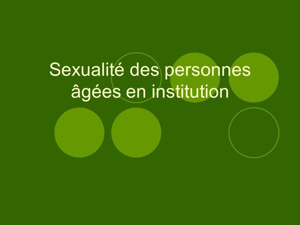 Sexualité des personnes âgées en institution