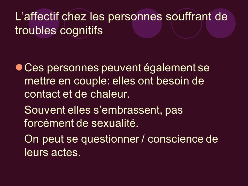 L'affectif chez les personnes souffrant de troubles cognitifs