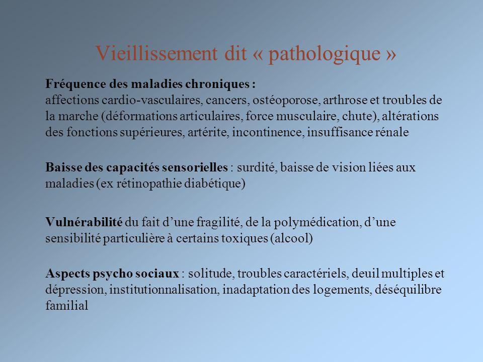 Vieillissement dit « pathologique »
