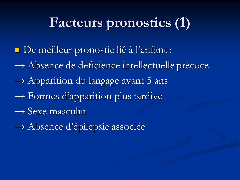 Facteurs pronostics (1)