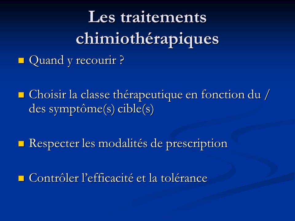 Les traitements chimiothérapiques