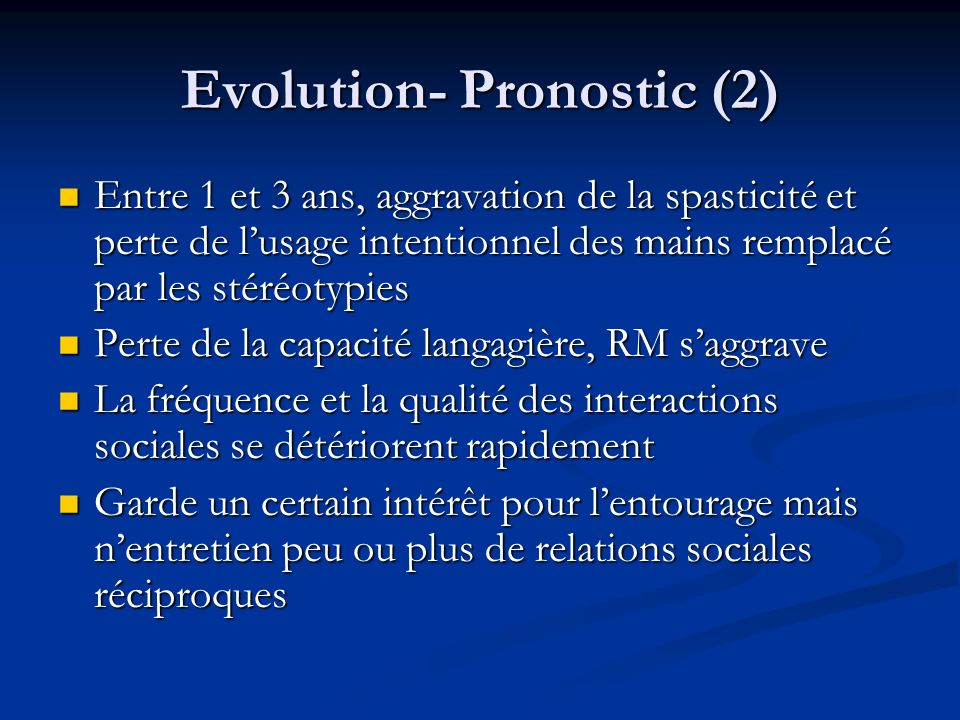 Evolution- Pronostic (2)