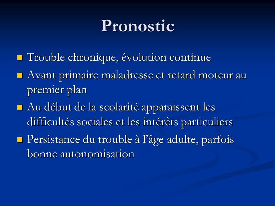 Pronostic Trouble chronique, évolution continue