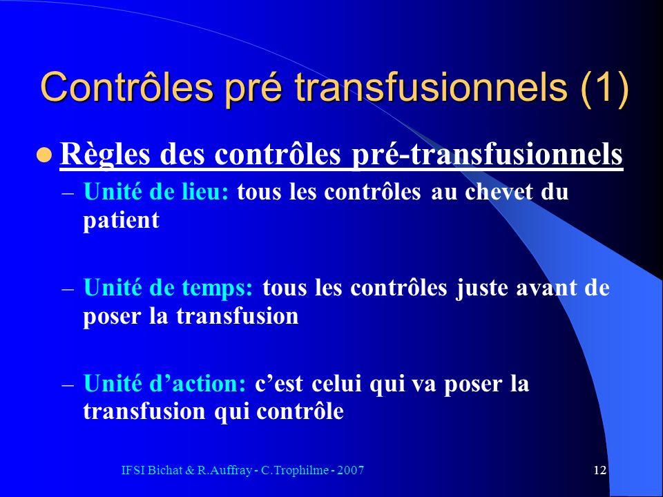 Contrôles pré transfusionnels (1)