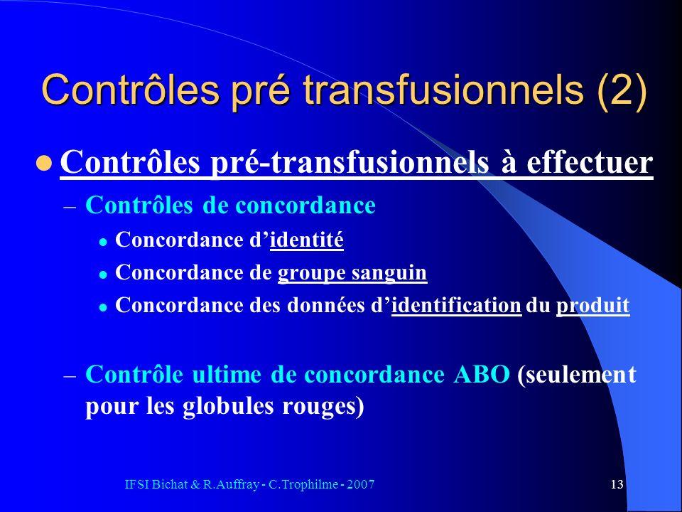 Contrôles pré transfusionnels (2)