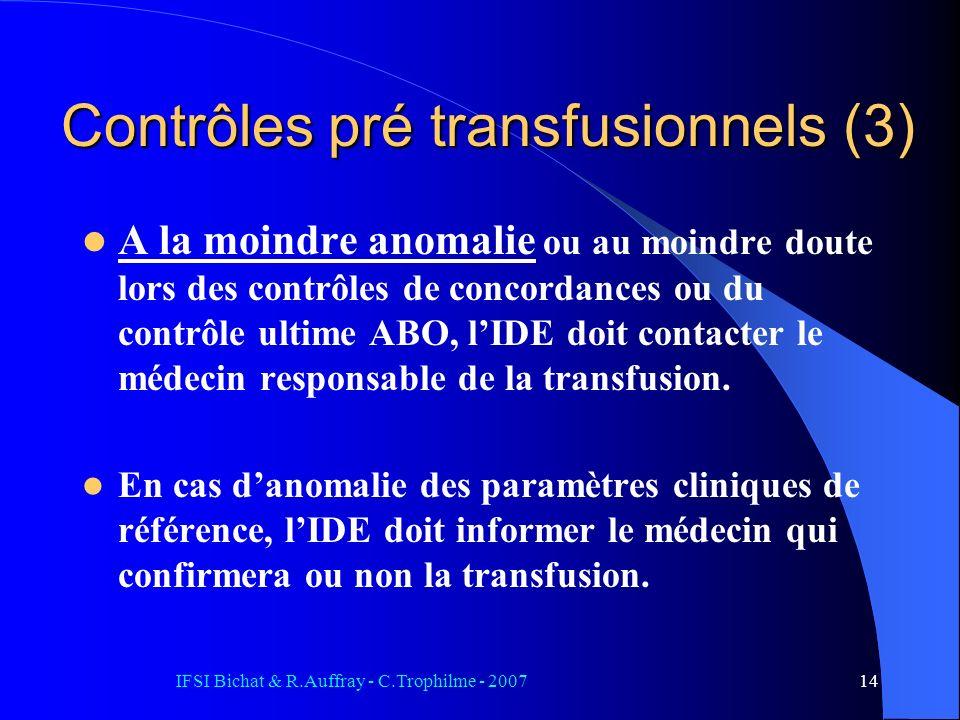 Contrôles pré transfusionnels (3)