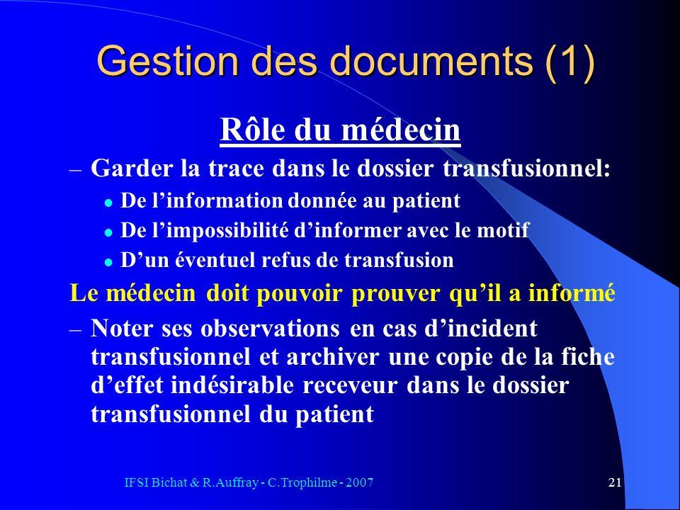 Gestion des documents (1)