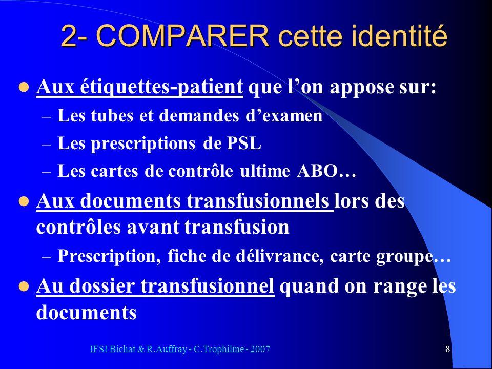 2- COMPARER cette identité