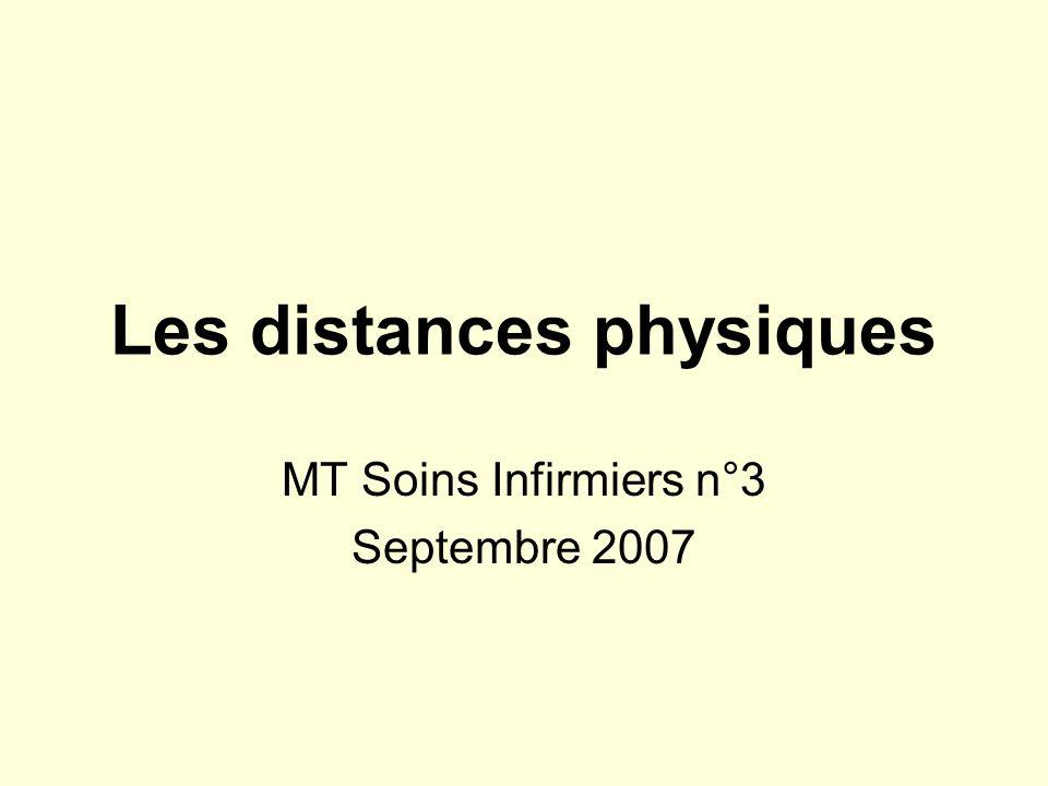 Les distances physiques
