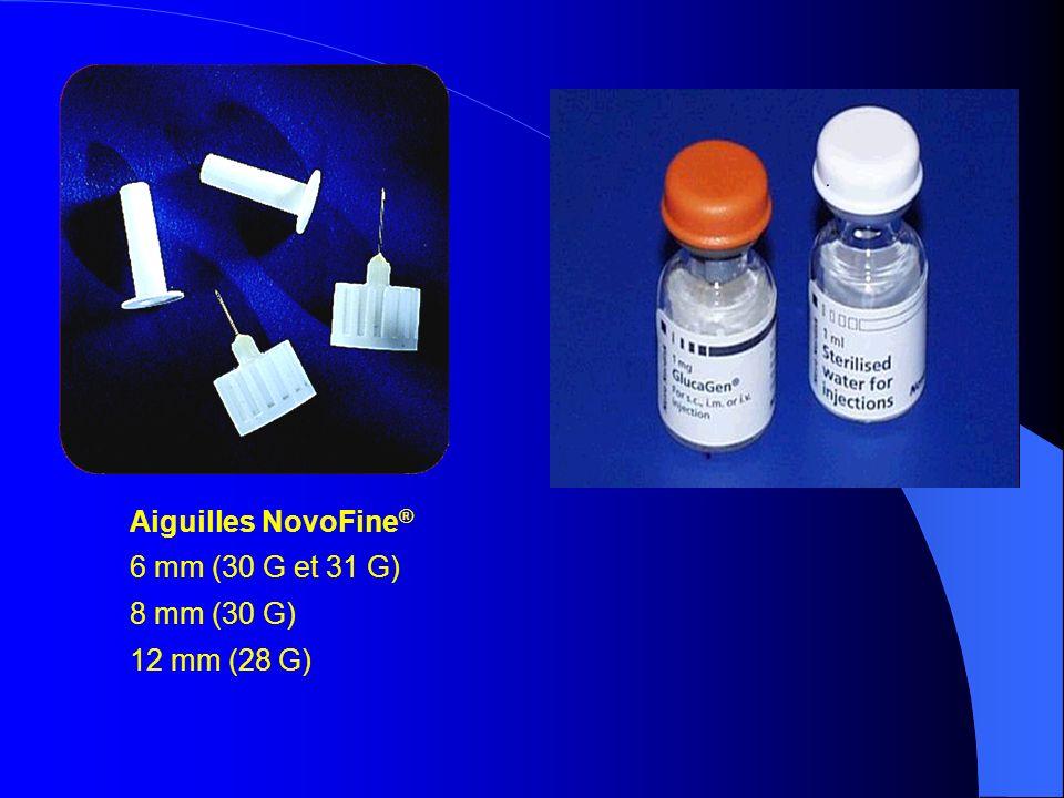 Aiguilles NovoFine® 6 mm (30 G et 31 G) 8 mm (30 G) 12 mm (28 G)